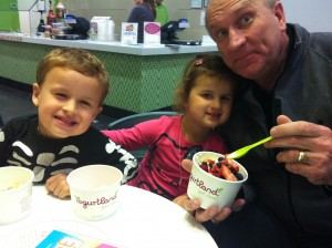 A dessert stop at yogurt land